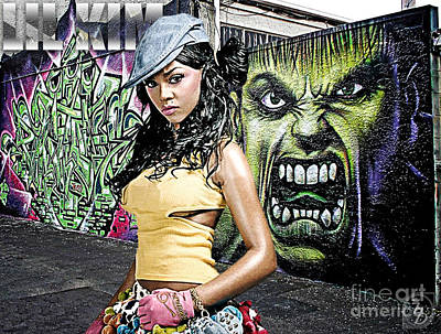 Lil Kim Print by The DigArtisT
