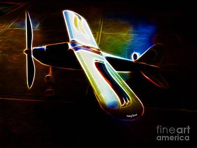 Lil Plane Print by Cheryl Young