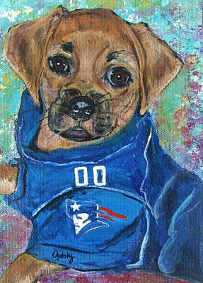 Dog Painting - Lil' Rock by Paintings by Gretzky