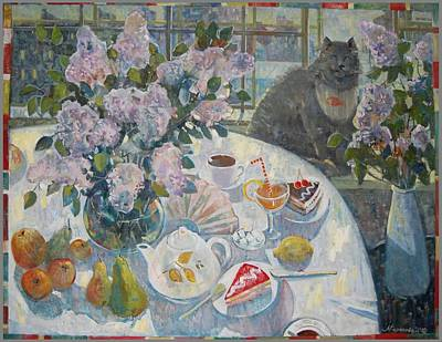 Lilacs In St. Petersburg Original by Margarita Baranova