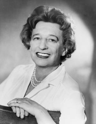 Lillian Hellman 1905-1984 Dramatist Print by Everett