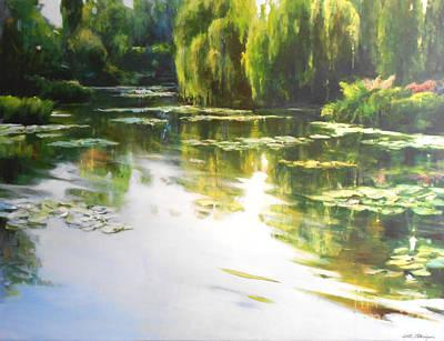Landskape Painting - Lilly Lake by Lin Petershagen