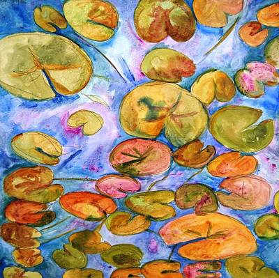 20x20 Painting - Lily Pad Time by SchulmanArt