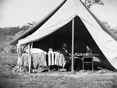 Brinton Photograph - Lincoln & Mcclellan, 1862 by Granger