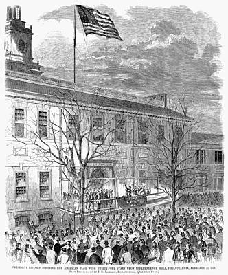Inauguration Photograph - Lincoln: Independence Hall by Granger