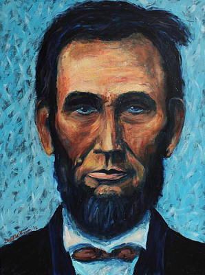 Lincoln Portrait #4 Print by Daniel W Green