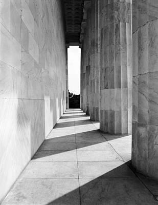 Lincolns Columns Original by Jan W Faul