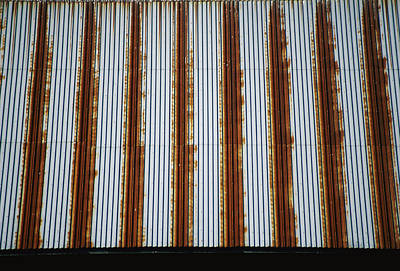 Lines Of Rust Make A Bold Pattern Print by Stephen St. John