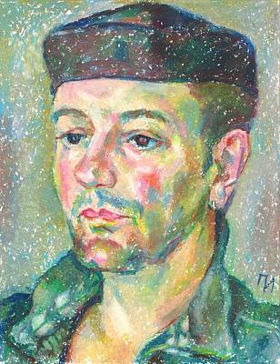 Green Painting - Lionel Rousseau by Leonid Petrushin