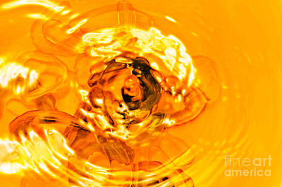 Liquid Gold Print by Andee Design