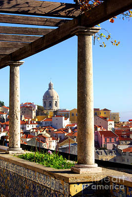 Rooftop Photograph - Lisbon View by Carlos Caetano