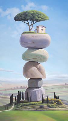 Italy Farmhouse Painting - L'isola by Paul Bond