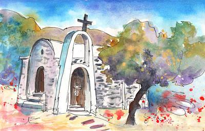 Little Church In Elounda Print by Miki De Goodaboom