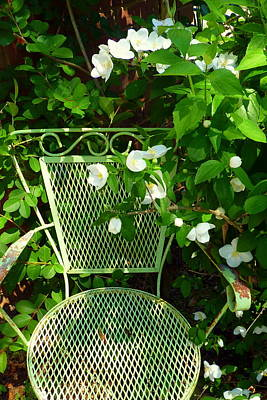Patina Photograph - Little Green Chair by Carla Parris