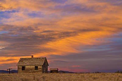Little House On The Colorado Prairie 2 Print by James BO  Insogna