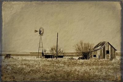 Rustic Digital Art Digital Art - Little House On The Prairie by Melany Sarafis