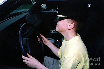 Antic Car Photograph - Little Officer by Susan Stevenson