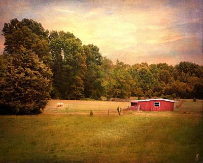 Little Red Barn Print by Jai Johnson