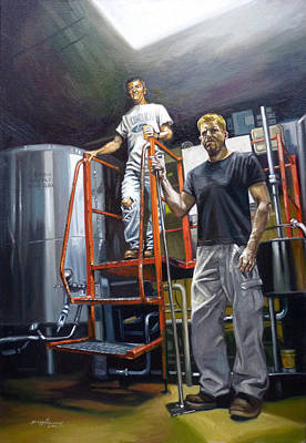 Painting - Live Oak Brewing Company Austin Texas by Gregg Hinlicky