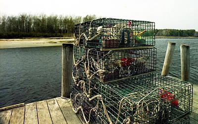 Lobster Pots Print by Skip Willits