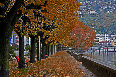 Locarno In Autumn Print by Joana Kruse