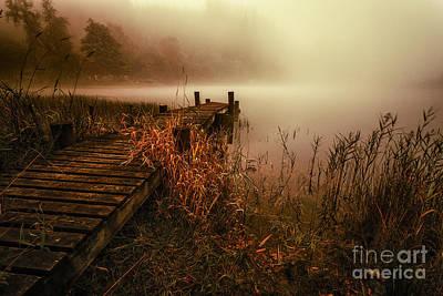 Loch Ard Early Morning Mist Print by John Farnan