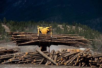 Grapple Photograph - Logging Machine by Leslie Philipp