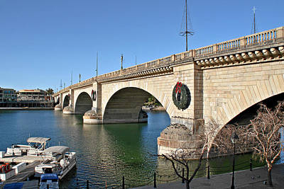 London Bridge Lake Havasu City - The World's Largest Antique Print by Christine Till