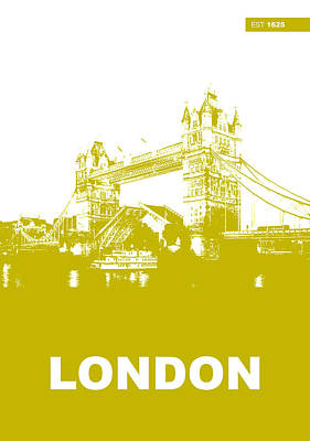Europe Digital Art - London Bridge Poster by Naxart Studio