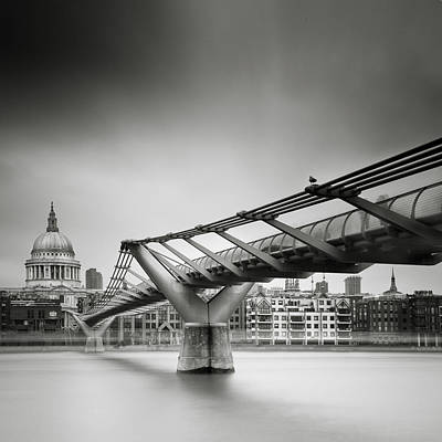 London Millenium Bridge Print by Nina Papiorek