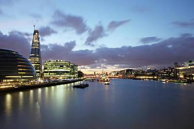 London Skyline At Sunset Print by Richard Newstead