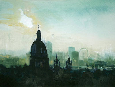 City Painting - London Smog by Paul Mitchell