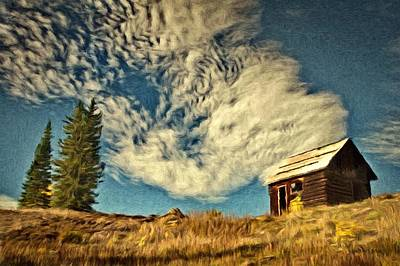Cabins Painting - Lone Cabin by Jeff Kolker