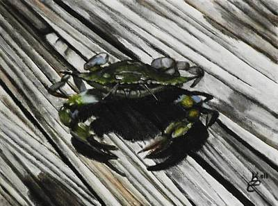 Lonely Crab Print by Kim Selig