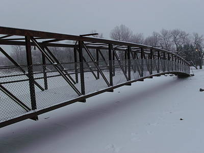Lonely Winter Bridge Print by Brian  Maloney