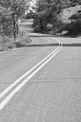 Landscapes Photograph - Long And Winding Road Bw by James BO  Insogna