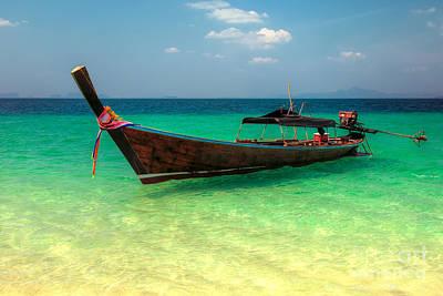 Longboat Thailand Print by Adrian Evans