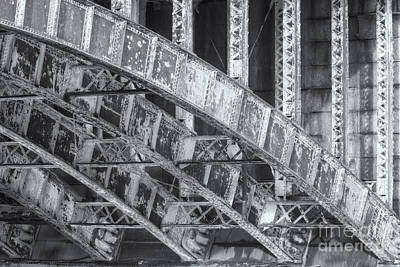 Longfellow Bridge Arches V Print by Clarence Holmes