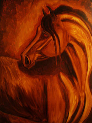 Windblown Painting - Look Behind You by Leni Tarleton