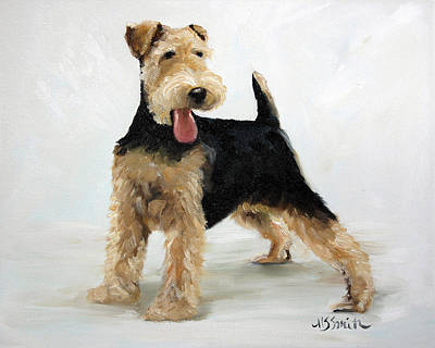 Puppies Painting - Looking For Fun by Mary Sparrow