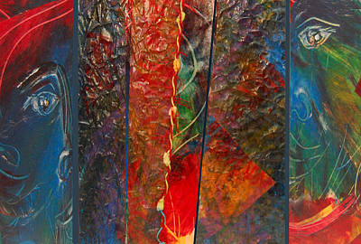 Adele Mixed Media - Looking From The Outside In by Adele Greenfield