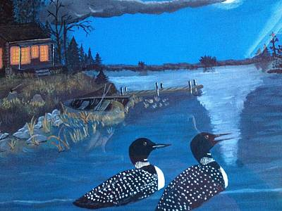 Loons Tour Print by Sheila Martin