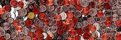 Loose Change . 3 To 1 Proportion Print by Wingsdomain Art and Photography