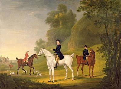 Oil Portrait Photograph - Lord Bulkeley And His Harriers by Francis Sartorius
