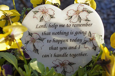 Lord Help Me To Remember Print by Mick Anderson
