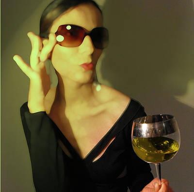 Wine Glasses Digital Art - Loren by Naxart Studio