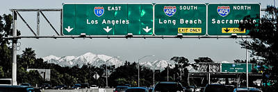 Up201209 Photograph - Los Angeles Freeway One by Josh Whalen