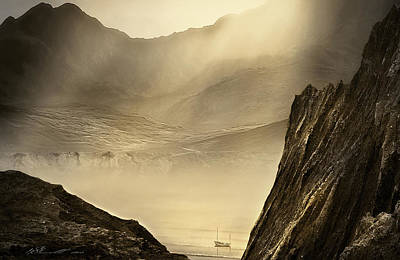 Wales Mixed Media - Lost Boat by Svetlana Sewell