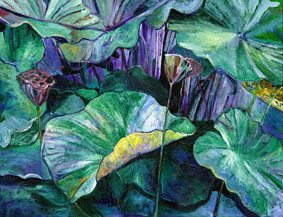 Painting - Lotus Pond by Carol Mangano