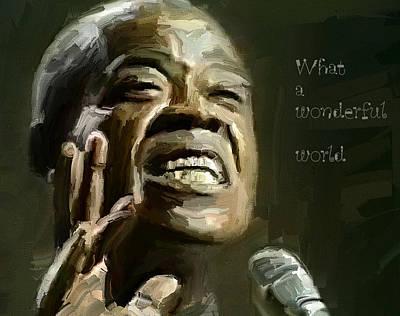 Louis Armstrong Wonderful World Print by Yury Malkov